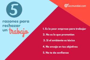 10 razones por las que debes rechazar una oferta de empleo